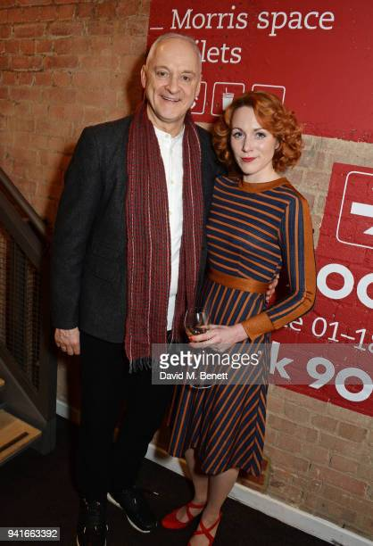 Cast members Malcolm Sinclair and Laura Rogers attend the press night performance of Pressure at The Park Theatre on April 3 2018 in London England