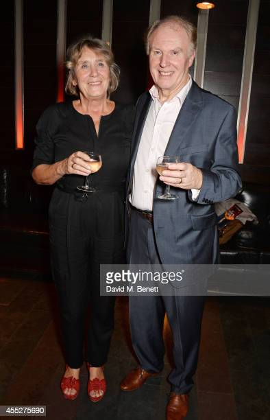 Cast members Margot Leicester and Tim PigottSmith attend an after party celebrating the press night performance of 'King Charles III' at Mint Leaf...