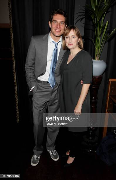 Cast members Mark Umbers and Jenna Russell attend an after party celebrating the press night performance of the Menier Chocolate Factory's 'Merrily...