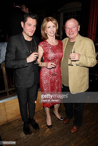 Cast members Mathew Horne Jane Asher and director Ian Talbot attend an after party following the press night performance of 'Charley's Aunt' at...