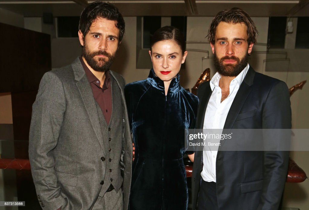 Cast members Matt Ryan, Judith Roddy and Christian Cooke attend the press night after party of 'Knives In Hens' at The Hospital Club on August 22, 2017 in London, England.