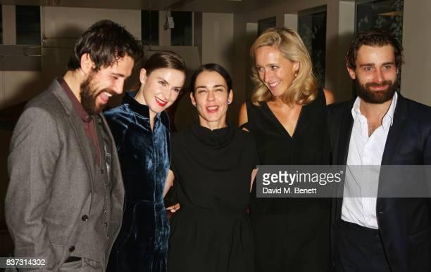 Cast members Matt Ryan Judith Roddy director Yael Farber Donmar Chief Operating Officer Kate Pakenham and Christian Cooke attend the press night...