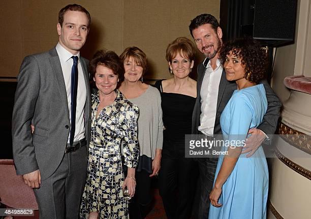 Cast members Matthew Barker Imelda Staunton Susan Brown Lorraine Ashbourne Lloyd Owen and Angel Coulby attend the press night performance of 'Good...