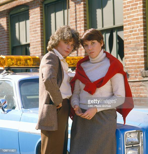 CAGNEY LACEY cast members Meg Foster and Tyne Daly Image dated 1982