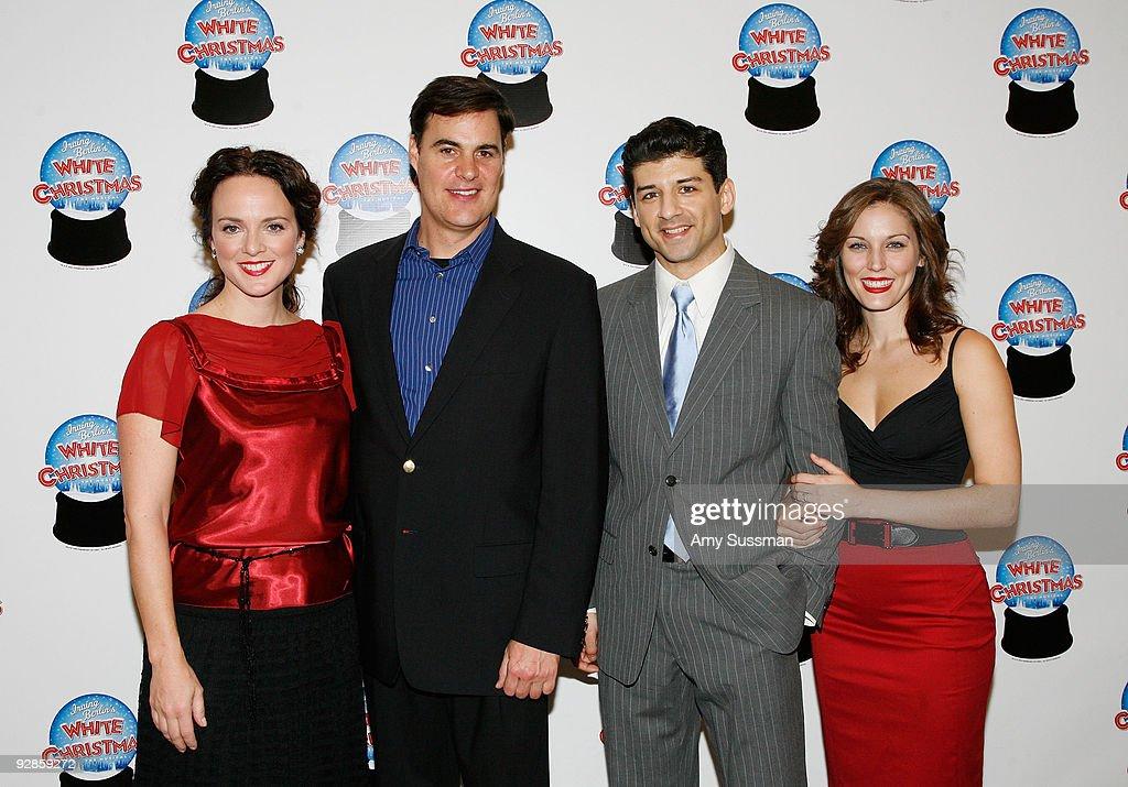 cast members melissa errico james clow tony yazbeck and mara davi attend the - Cast Of White Christmas