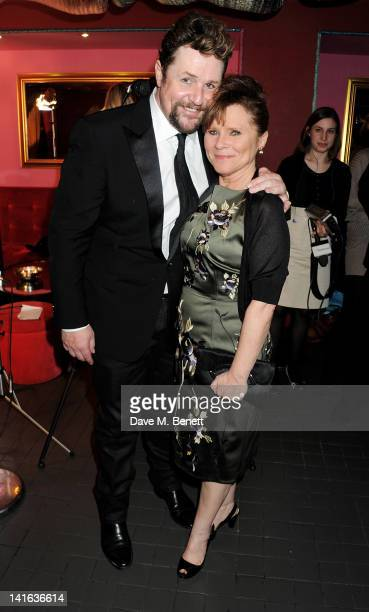 Cast members Michael Ball and Imelda Staunton attend an after party celebrating the press night performance of 'Sweeney Todd' at Floridita on March...