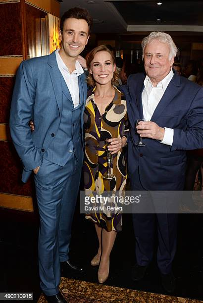 Cast members Michael Xavier, Joanna Riding and director Sir Richard Eyre attend an after party following the press night performance of 'The Pajama...