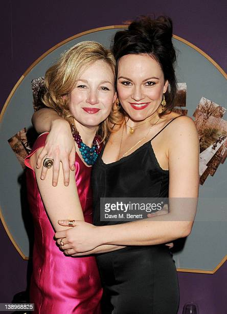 Cast members Nancy Carroll and Rachael Stirling attend an after party following the press night performance of Donmar Warehouse's 'The Recruiting...
