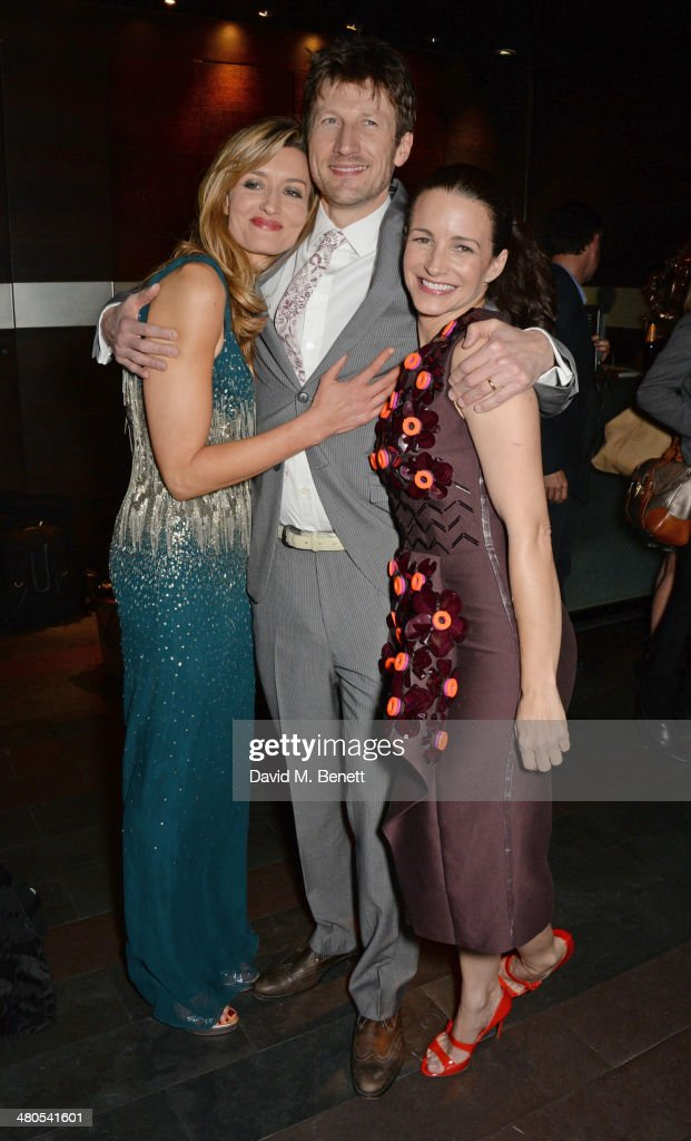Cast members Natascha McElhone, Mark Bazeley and Kristin Davis attend an after party celebrating the press night performance of 'Fatal Attraction' at Mint Leaf Restaurant on March 25, 2014 in London, England.