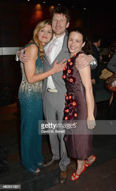 Cast members Natascha McElhone Mark Bazeley and Kristin Davis attend an after party celebrating the press night performance of Fatal Attraction at...