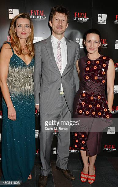 Cast members Natascha McElhone Mark Bazeley and Kristin Davis attend an after party celebrating the press night performance of 'Fatal Attraction' at...