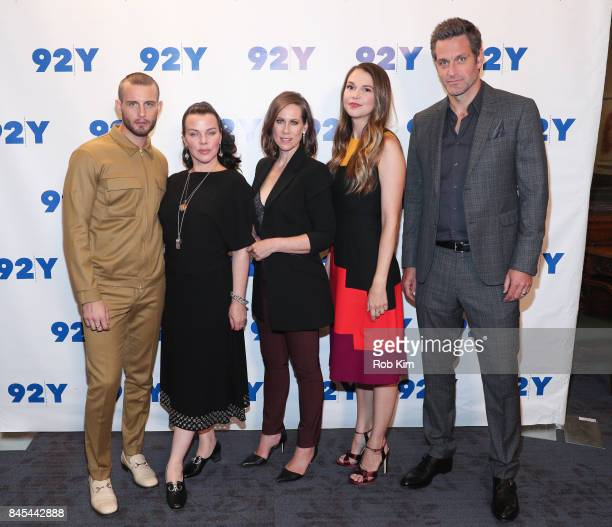 Cast members Nico Tortorella Debi Mazar Miriam Shor Sutton Foster and Peter Hermann attend Conversation and Screening of 'Younger' at 92nd Street Y...