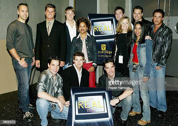 Cast members Norman Reichen Simon Wes James Brian Sophia Genesis Ruthie Gary Danny and Larry of reality television series' attends City of Hope's...