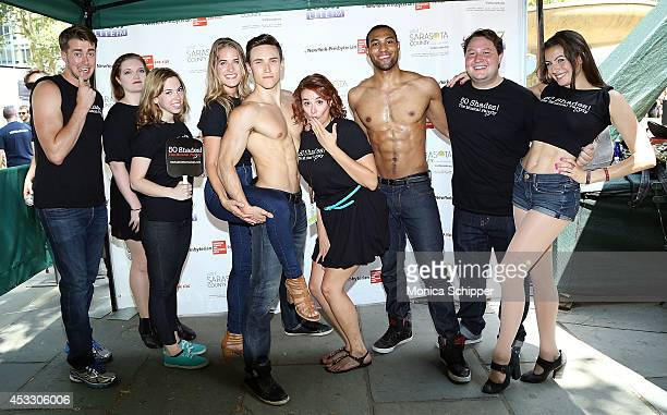 Cast members of Õ50 Shades The MusicalÕÊ attend 1067 LITE FM's Broadway in Bryant Park 2014 at Bryant Park on August 7 2014 in New York City