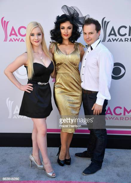 Cast members of 'Absinthe' attend the 52nd Academy Of Country Music Awards at Toshiba Plaza on April 2 2017 in Las Vegas Nevada
