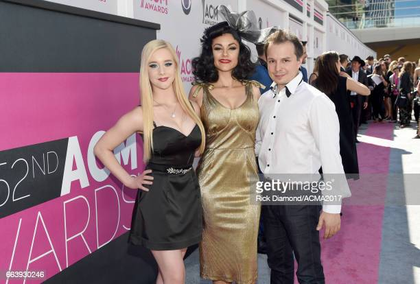 Cast members of 'Absinthe' attends the 52nd Academy Of Country Music Awards at Toshiba Plaza on April 2 2017 in Las Vegas Nevada