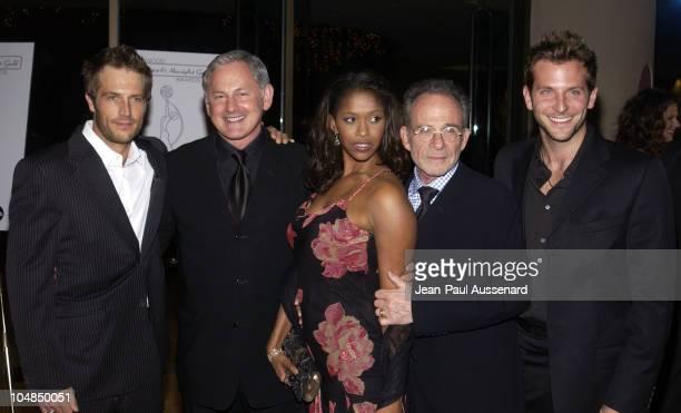 Cast members of 'Alias' Michael Vartan Victor Garber Merrin Dungey Ron Rifkin and Bradley Cooper