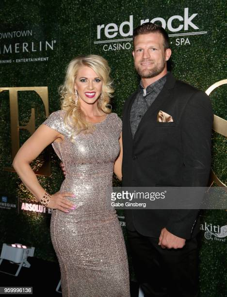 Cast members of Flip or Flop Vegas Aubrey Marunde and her husband mixed martial artist Bristol Marunde attend Vegas magazine's 15th anniversary party...