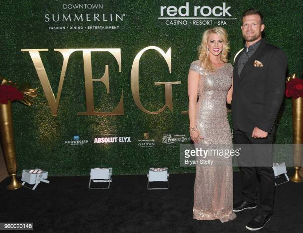 Cast members of 'Flip or Flop Vegas' Aubry Marunde and her husband Bristol Marunde attend VEGAS Magazine's 15th anniversary party at the Red Rock...
