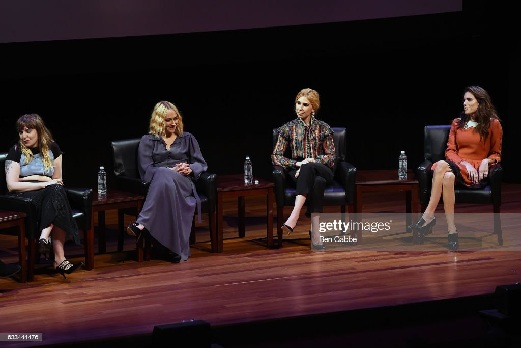 Cast members of 'Girls' Lena Dunham, Jemima Kirke, Zosia Mamet and Allison Williams speak during TimesTalks: A Final Farewell to the Cast of HBO's 'Girls' at Jack H. Skirball Center for the Performing Arts on February 1, 2017 in New York City.