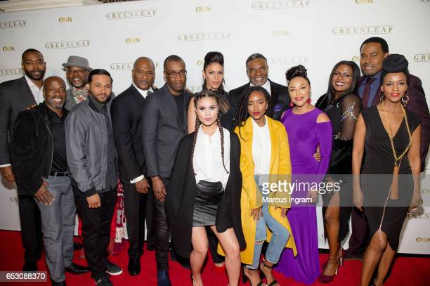 Cast Members of Greendleaf attend 'Greenleaf' season 2 premiere Atlanta screening at SCADshow on March 13 2017 in Atlanta Georgia