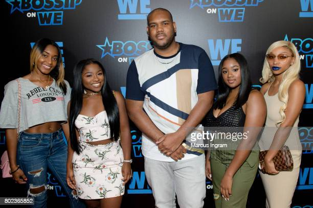 Cast members of 'Growing Up HipHop' Shaniah Mauldin Ayane Fite Brandon Barnes Reginae Carter and Zonnique Pullins attend Bossip On WE Atlanta launch...