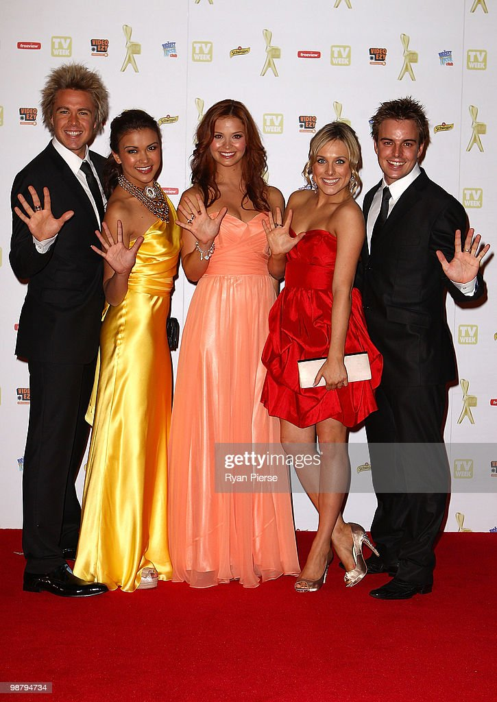 Cast members of Hi Five arrive at the 52nd TV Week Logie Awards at