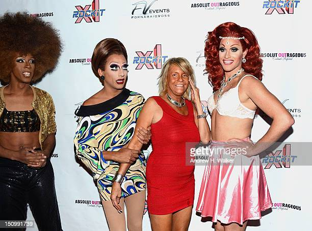 Cast members of Hot Mess and Patricia Tan Mom Krentcil visit XL Cabaret on August 29 2012 in New York City