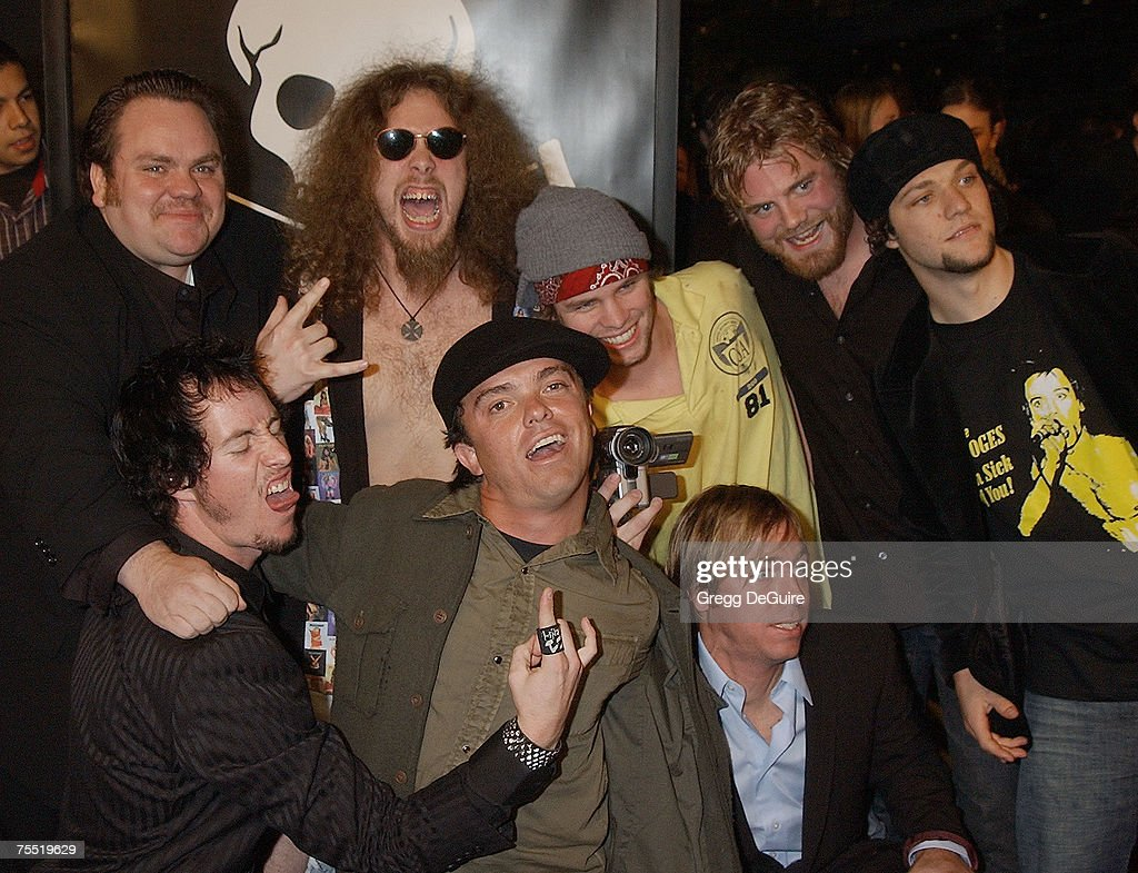 Cast members of 'Jackass: The Movie' at the Cinerama Dome in Hollywood, California