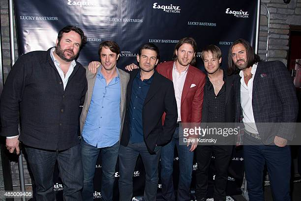"""Cast members of """"Lucky Bastards"""" - Rocco Cafferelli, Lorenzo Borghese, Scott Mitchell, Charles Ferri, Craig Clemens and Adam Campbell attend the..."""