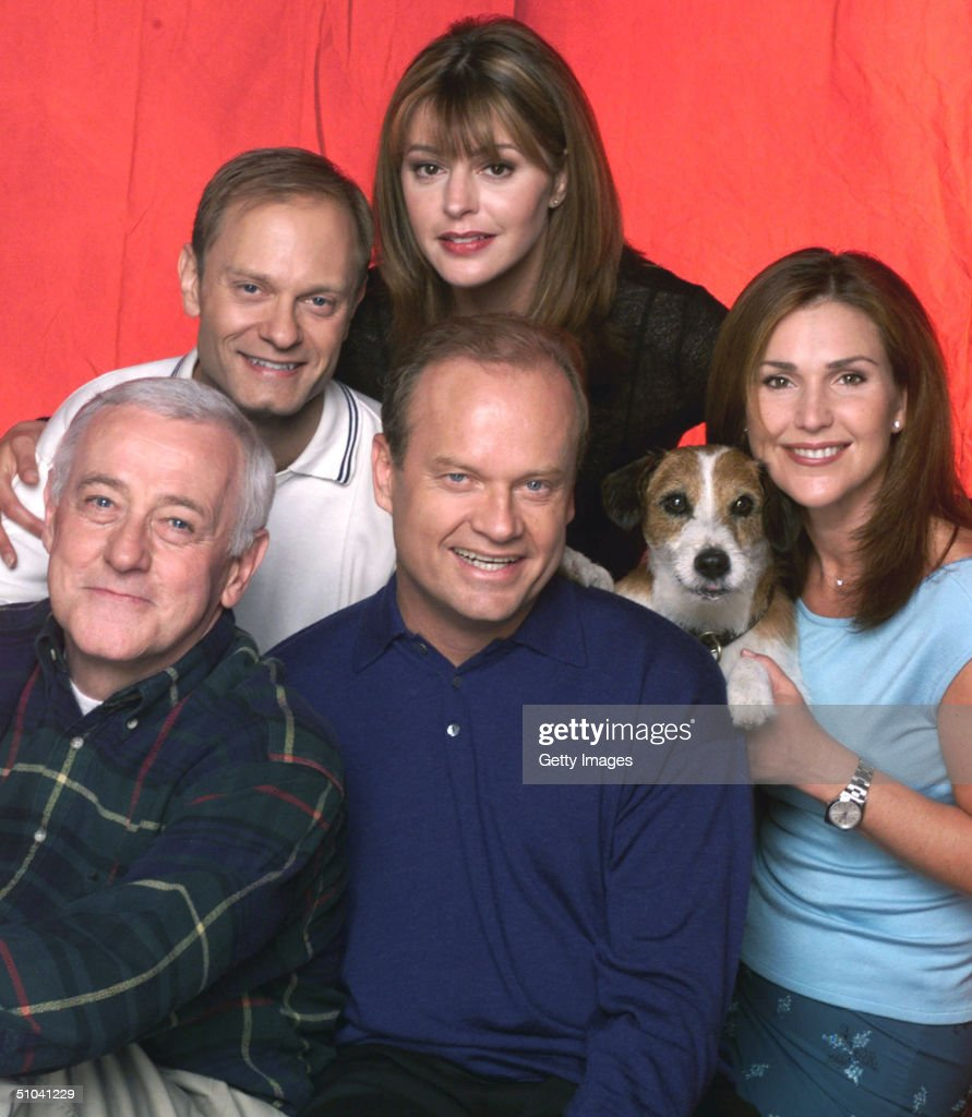 Cast Members Of NBC Television Comedy Series Frasier Pictured: (L) R Actors David Hyde : News Photo