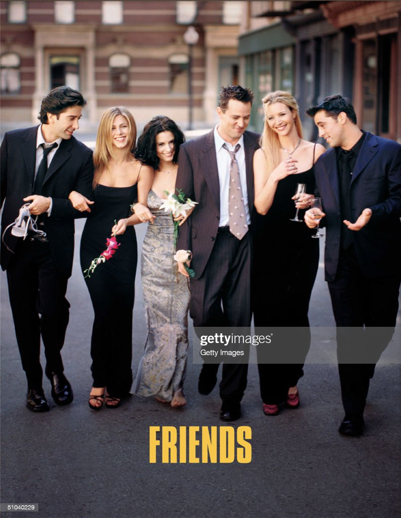 Cast Members Of NBC's Comedy Series Friends Pictured (L) To R : David Schwimmer As Ross : Nachrichtenfoto