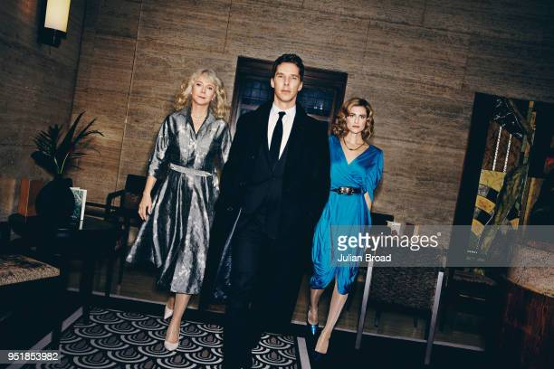 Cast members of of tv mini-series Patrick Melrose, actors Blythe Danner, Benedict Cumberbatch and Allison Williams are photographed for Vanity Fair...