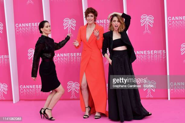 Cast members of 'Perfect Life', Spanish actresses Celia Freijeiro, Aixa Villagran and Leticia Dolera pose on the pink carpet during the 2nd...