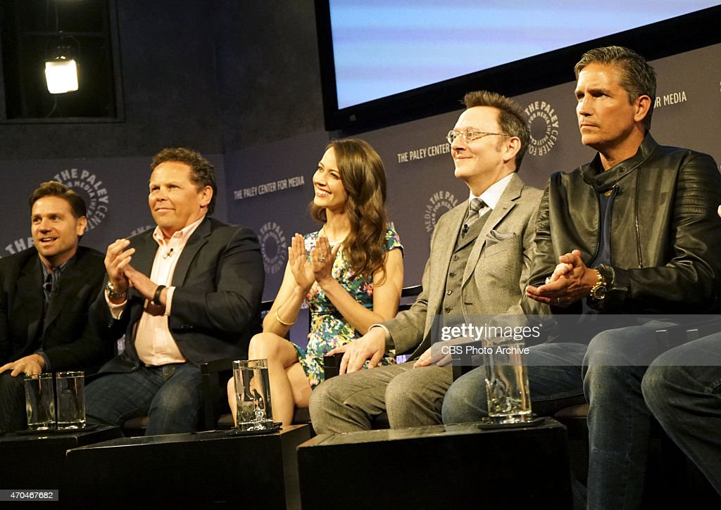 Cast members of PERSON OF INTEREST participate in panel discussions