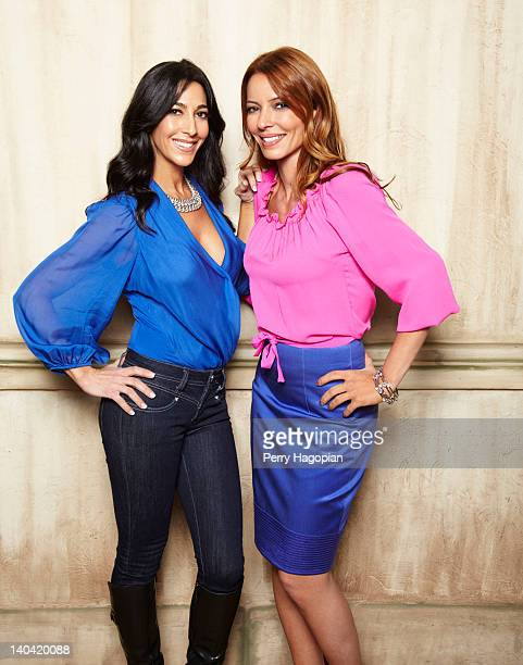 Cast members of reality show 'Mob Wives' Carla Facciolo and Drita D'avanzo are photographed for Reality Weekly on January 16 2012 in Staten Island...