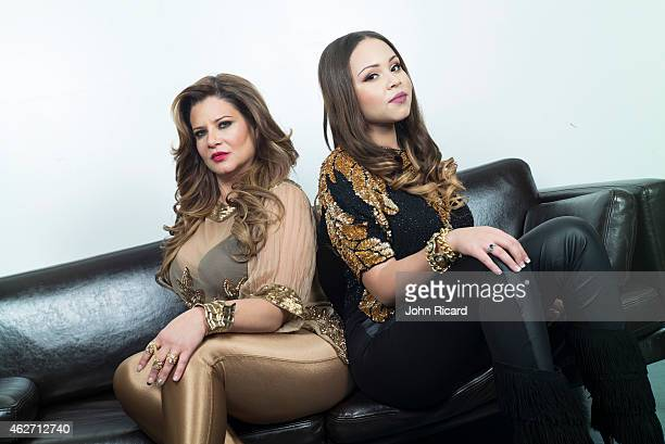 Cast members of reality show 'Mob Wives' Karen Gravano and daughter Karina Seabrook pose for a portrait on January 12 2015 in New York City