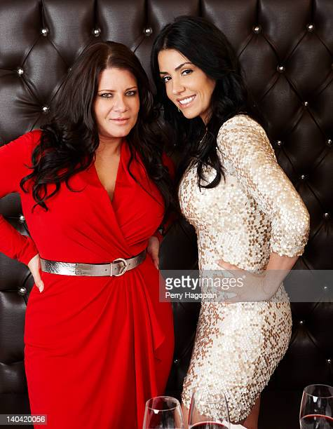 Cast members of reality show 'Mob Wives' Karen Gravano and Ramona Rizzo are photographed for Reality Weekly on January 16 2012 in Staten Island New...