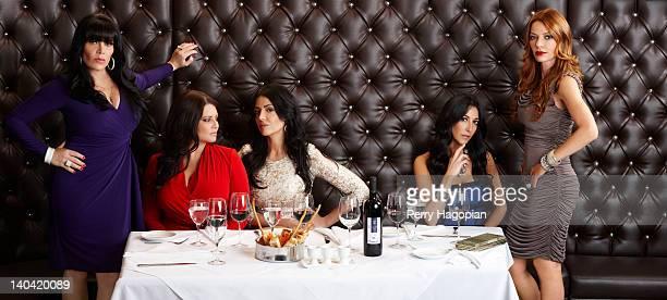 Cast members of reality show 'Mob Wives' Renee Graziano Karen Gravano Carla Facciolo Ramona Rizzo and Drita D'avanzo are photographed for Reality...
