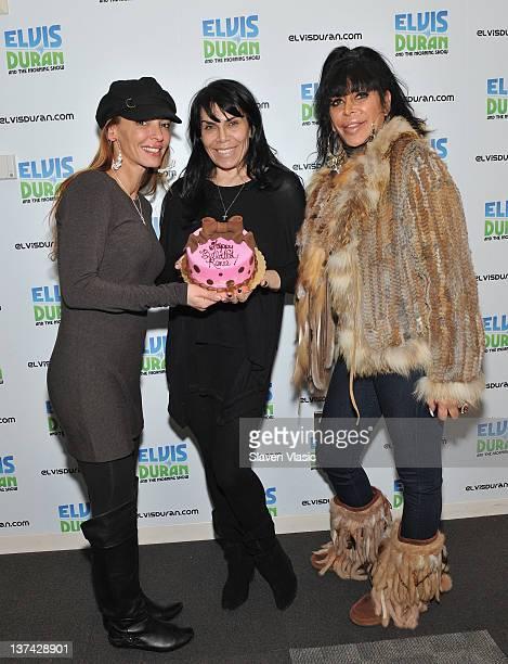 Cast members of reality TV series Mob Wives Renee Graziano Drita D'Avanzo and Angela Big Ang Raiola visit The Elvis Duran Z100 Morning Show at Z100...