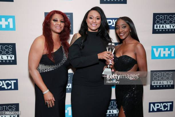 Cast members of Surviving R Kelly winners of Best Limited Documentary Series pose in the press room during the Critics' Choice Real TV Awards at The...