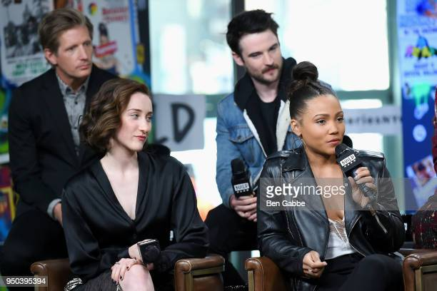 Cast members of 'Sweetbitter' Paul Sparks Eden Epstein Tom Sturridge and Jasmine Mathews visit the Build Series to discuss the new TV series...