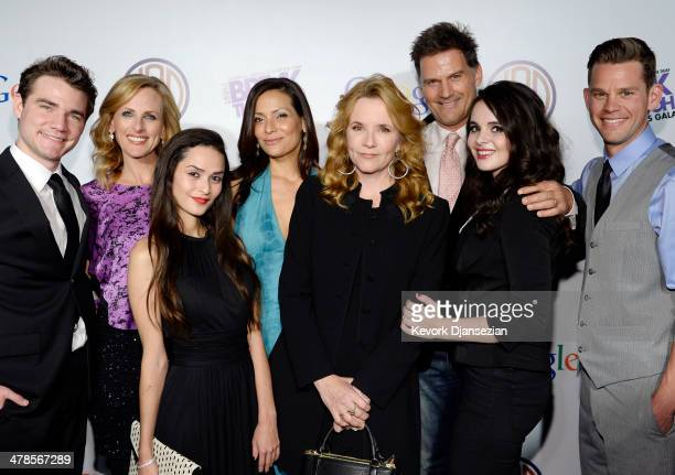 Cast members of Switched at Birth Daniel Durant Marlee Matlin Stephanie Nogueras Lea Thompson Constance Marie DW Moffett Vanessa Marano and Ryan Lane...