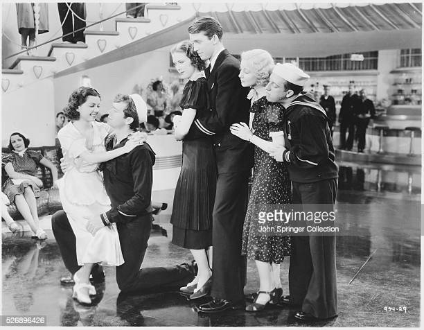 Cast members of the 1936 musical Born to Dance are Frances Langford as Peggy Turner Buddy Ebsen as Mush Tracy Eleanor Powell as Nora Paige James...