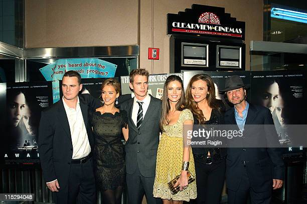 Cast members of the Awake Director Joby Harold Actress Jessica Alba Actor Hayden Christensen actress Georgina Chapman actress Lena Olin and...