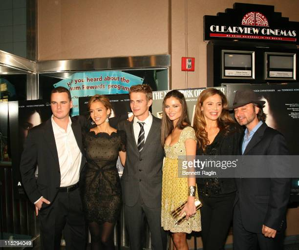 Cast members of the Awake Director Joby Harold actress Jessica Alba actress Hayden Christensenactress Georgina Chapman actress Lena Olin and...