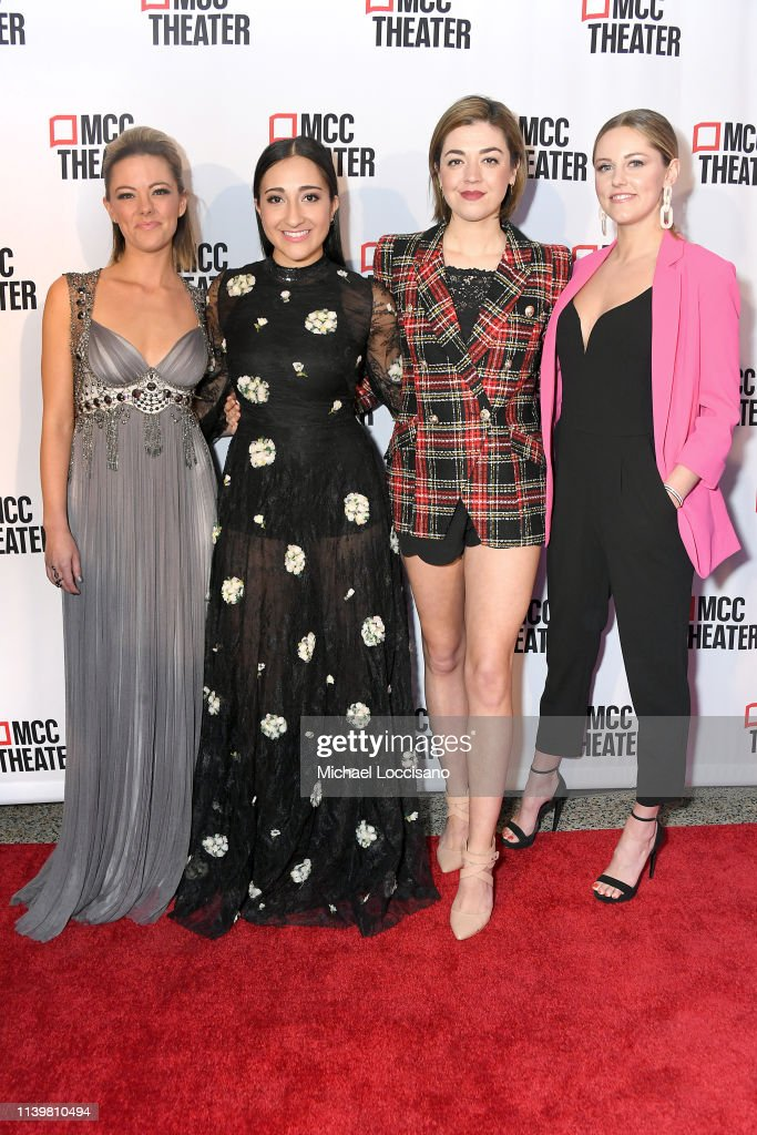 Cast members of the Broadway show Mean Girls Kate Rockwell, Krystina