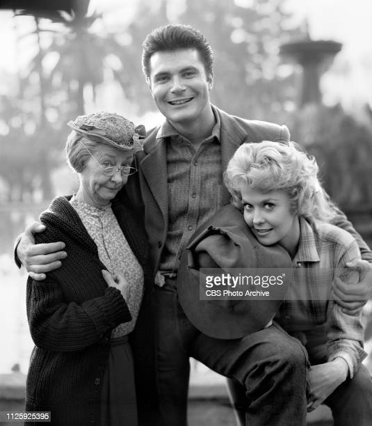 Cast members of the CBS television situation comedy The Beverly Hillbillies December 3 1963 Los Angeles CA Pictured is cast members Irene Ryan Max...