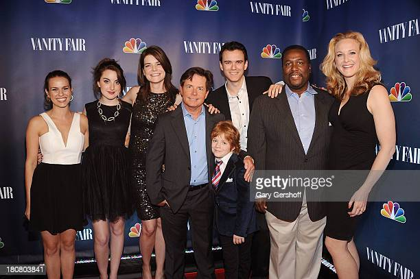 Cast members of 'The Michael J Fox Show' Ana Nogueira Juliette Goglia Betsy Brandt Michael J Fox Jack Gore Conor Romero Wendell Pierce and Katie...