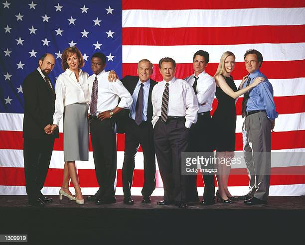 Cast members of the NBC drama West Wing from Richard Schiff as Communications Director Toby Ziegler Allison Janney as Press Secretary CJ Gregg Dule...
